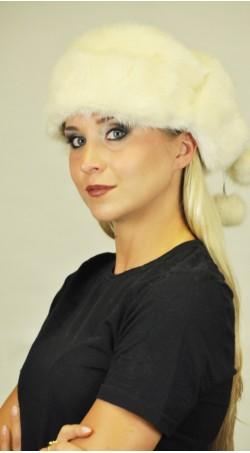 Ausinė skandinaviškos audinės kailio kepurė