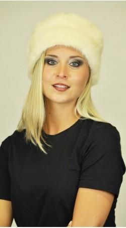 Skandinaviškos audinės kailio kepurė